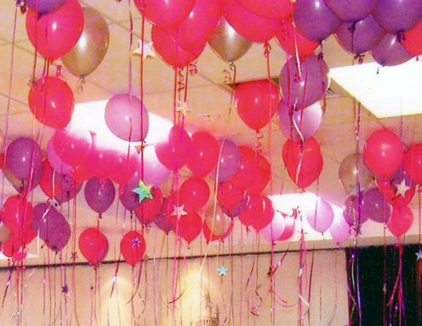 We Like To Party One Hundred Ceiling Helium Balloons With Hifloat
