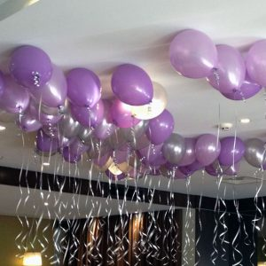 We Like To Party Twenty Five Ceiling Helium Balloons With Hifloat