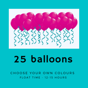 We Like To Party 25 Ceiling Helium Balloons with Ribbon