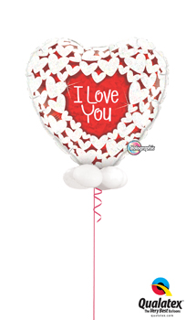 We Like To Party Giant Holographic Glitter Heart Balloon Bouquet