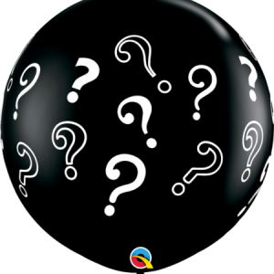 We Like To Party Giant Gender Reveal Question Mark Balloon