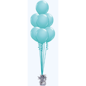 We Like To Party Floor Balloon Bouquet of Seven with Hifloat