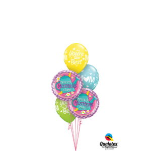 We Like To Party The Best Gardening Mum Five Balloon Bouquet
