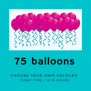 We Like To Party 75 ceiling helium balloons with ribbon