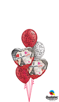We Like To Party All You Need Is Love Balloon Bouquet