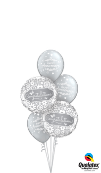 We Like To Party Anniversary Congratulations Balloon Bouquet