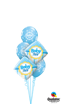 We Like To Party Baby Boy Dots Stripes Balloon Bouquet