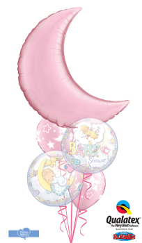 We Like To Party Baby Shower Moon Stars Balloon Bouquet