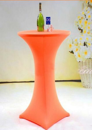 We Like To Party Bar Table Orange Lycra Sock Hire