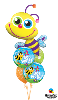 We Like To Party Beaming Bee Well Balloon Bouquet
