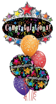 We Like To Party Big Congratulations Balloon Bouquet