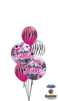 We Like To Party Birthday Girl Double Bubble Balloon Bouquet