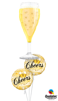 We Like To Party Cheers Star Bursts Balloon Bouquet