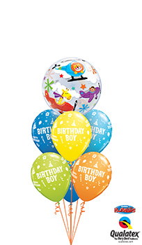 We Like To Party Circus Boy Birthday Balloon Bouquet
