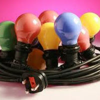 We Like To Party 10m Coloured Light Set Hire