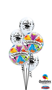 We Like To Party Congrats Graduation Bubbles Balloon Bouquet