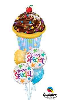 We Like To Party Cupcake Special Balloon Bouquet