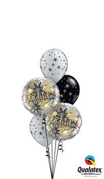 We Like To Party Elegant Congratulations Balloon Bouquet