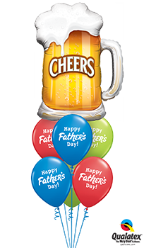 We Like To Party Fathers Day Cheers Balloon Bouquet