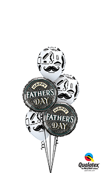 We Like To Party Fathers Day Moustache Balloon Bouquet