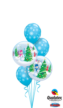 We Like To Party Festive Snowflake Trees Balloon Bouquet