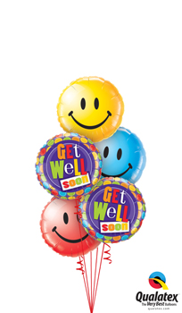We Like To Party Get Well Dots & Smiles Balloon Bouquet