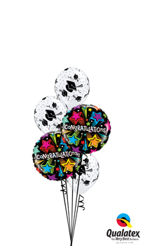 We Like To Party Graduation Congratulations Balloon Bouquet