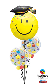 We Like To Party Graduation Smiles Balloon Bouquet