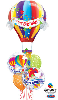 We Like To Party Hot Air Birthday Balloon Bouquet