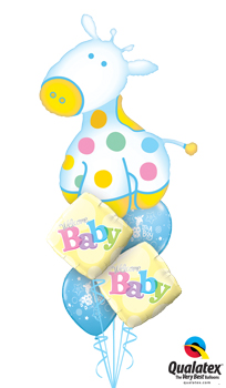 We Like To Party Its A Boy Soft Giraffe Balloon Bouquet
