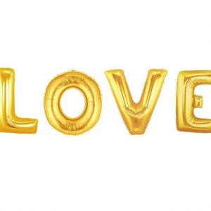 We Like To Party Giant Foil Helium Letters LOVE
