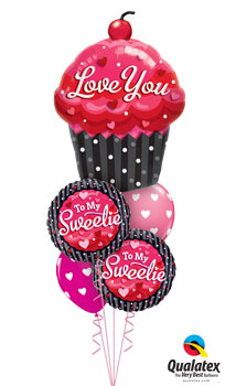 We Like To Party Love You Sweetie Balloon Bouquet
