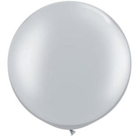 We Like To Party Giant Metallic Silver Balloon