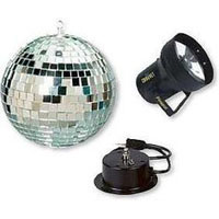 We Like To Party Mirror Ball And Pin Light Hire