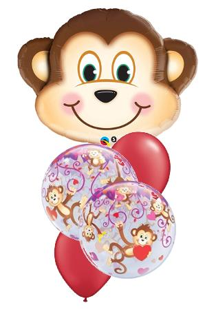 We Like To Party Monkey Love Balloon Bouquet