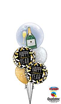 We Like To Party NYE Confetti Countdown Balloon Bouquet
