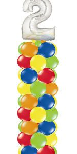 Number Balloon Column
