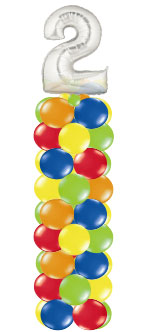 We Like To Party Single Number Balloon Column