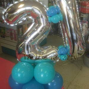 We Like To Party Number Table Balloon Centerpiece