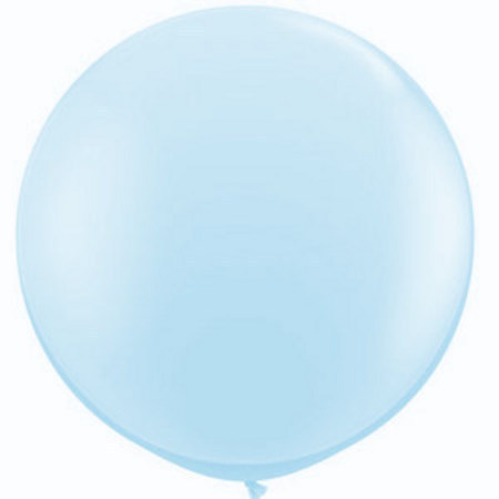 We Like To Party Giant Pearl Light Blue Balloon