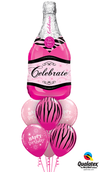 We Like To Party Pink Champagne Birthday Balloon Bouquet