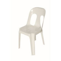 We Like To Party Chair_No Arms Hire White Plastic