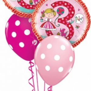 We Like To Party Rachel Ellen 3rd Princess Birthday Balloon Bouquet