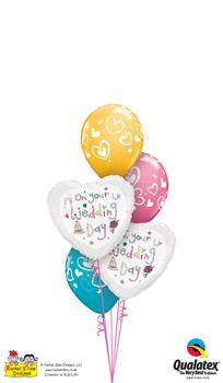 We Like To Party Rachel Ellen On Your Wedding Day Balloon Bouquet