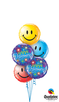 We Like To Party Retirement Smiles Balloon Bouquet