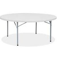 We Like To Party 1.8m Round Table Hire