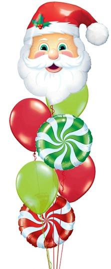 We Like To Party Santa Swirls Balloon Bouquet