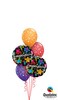 We Like To Party Shooting Stars Congratulations Balloon Bouquet