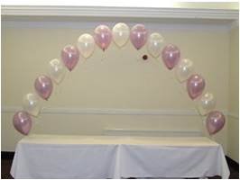 We Like To Party Table Single Row Helium Balloon Arch
