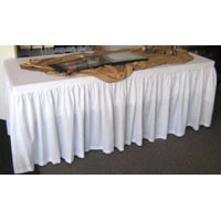 We Like To Party 3m Table White Skirt Hire